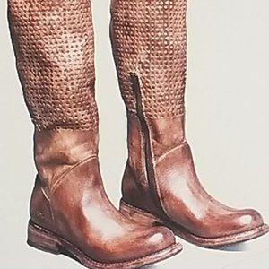 Bedstu Tall Tan Driftwood Cambridge Boots size 8